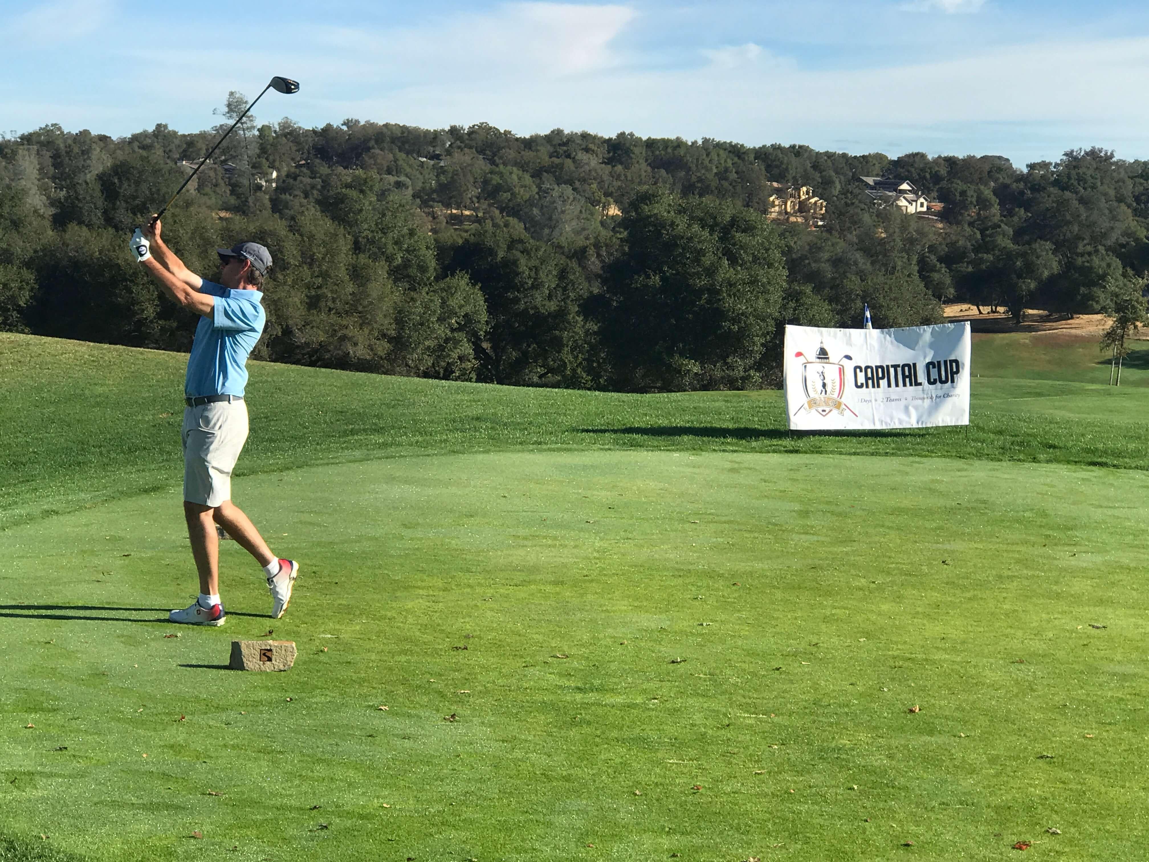 golfing at Serrano