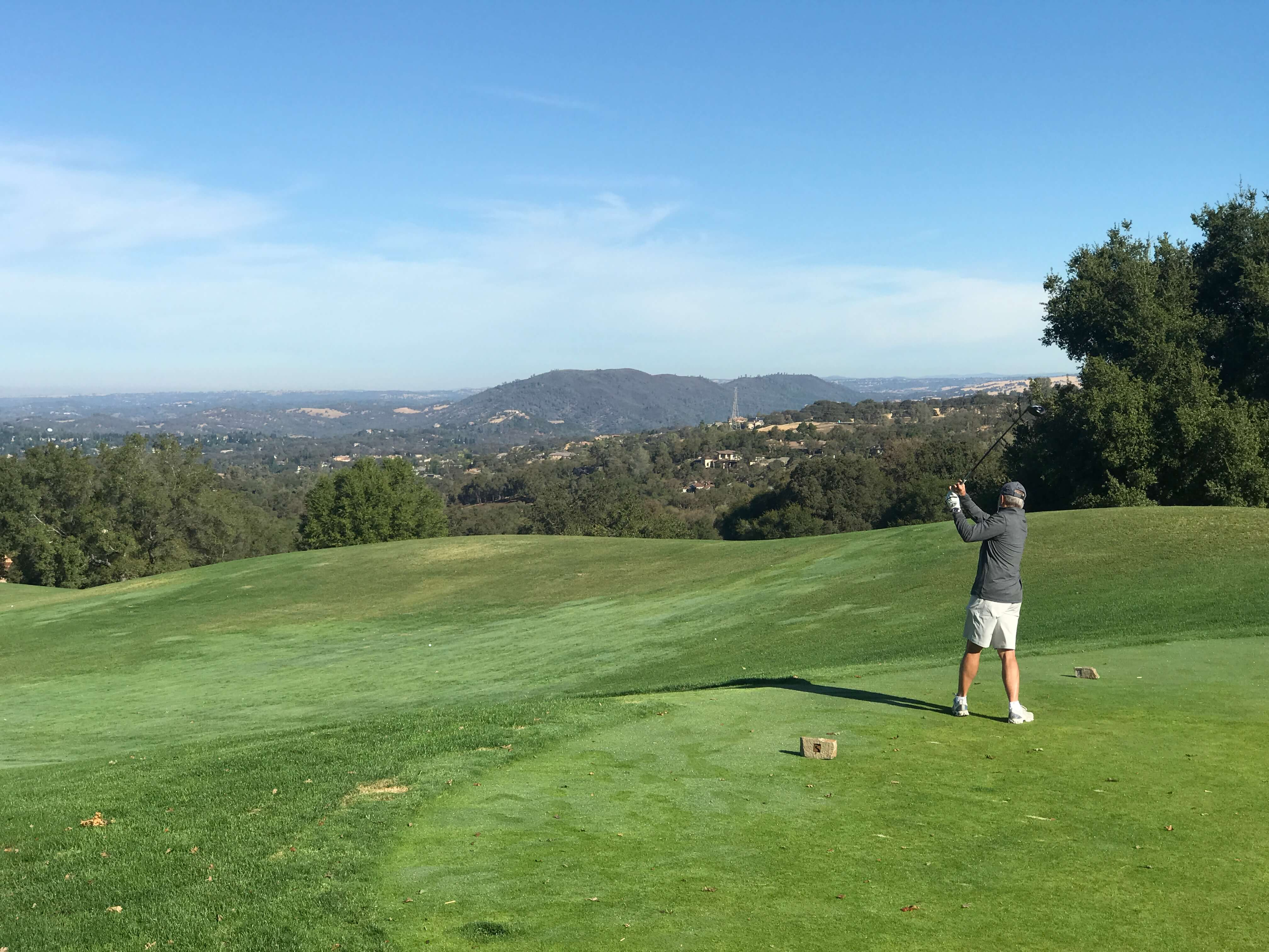teeing off at Serrano